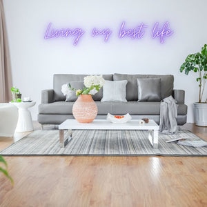 best life neon wall decor
