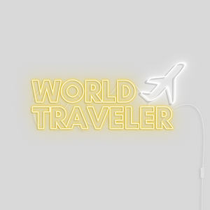 'World Traveler' Neon Light