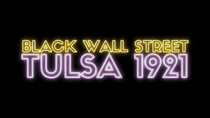 Black Wall Street Tulsa 1921 Neon light