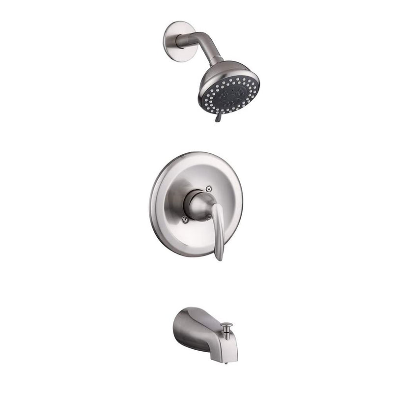 NEWATER Brushed Nickel Tub and Shower Trim Kit Single-Handle Faucet Set Pressure balancing shower system (401101-2)