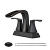 PARLOS Waterfall Spout 2 Handles Bathroom Faucet with Pop-up Drain and Faucet Supply Lines, Oil Rubbed Bronze, Doris (14069)