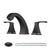 PARLOS Widespread Double Handles Bathroom Faucet with Pop Up Drain and cUPC Faucet Supply Lines, Oil Rubbed Bronze , Doris(14173)