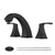 PARLOS Widespread Double Handles Bathroom Faucet with Pop Up Drain and cUPC Faucet Supply Lines, Matte Black (14258)