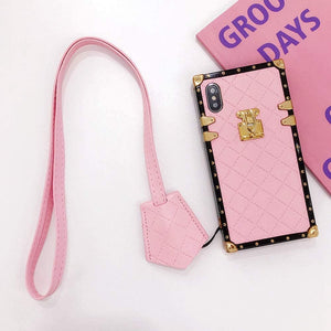 "iPhone case ""Pink Leather Lanyard"" by PURITY™"