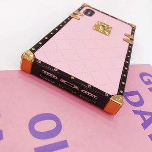 "iPhone case ""Pink Leather"" by PURITY™"