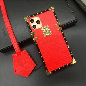 "iPhone case ""Red Leather Lanyard"" by PURITY™"