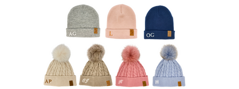 cubs and co personalised beanies