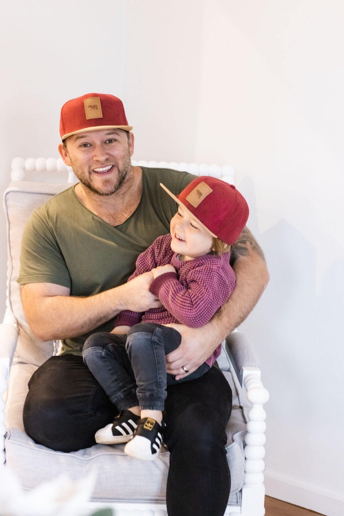 matching father and son suede snapback hats. Cubs & co. Australia