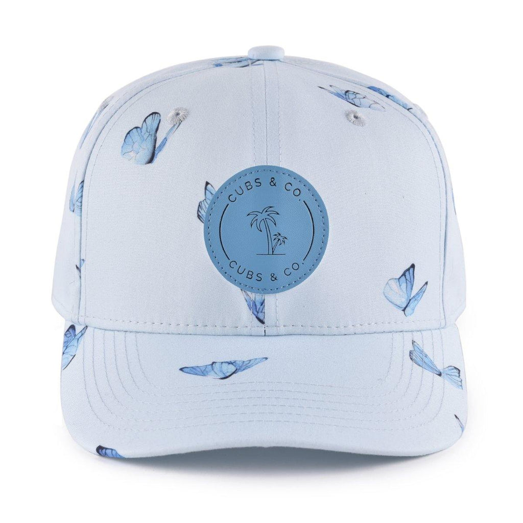 Blue butterfly snapback baseball cap for babies and kids. Cubs & Co. Australia