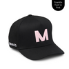 Personalised black baseball cap with your initials for babies, toddlers, kids, women and men, Cubs & Co. Australia.