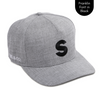 Personalised grey baseball cap with your initials for babies, toddlers, kids, women and men, Cubs & Co. Australia.