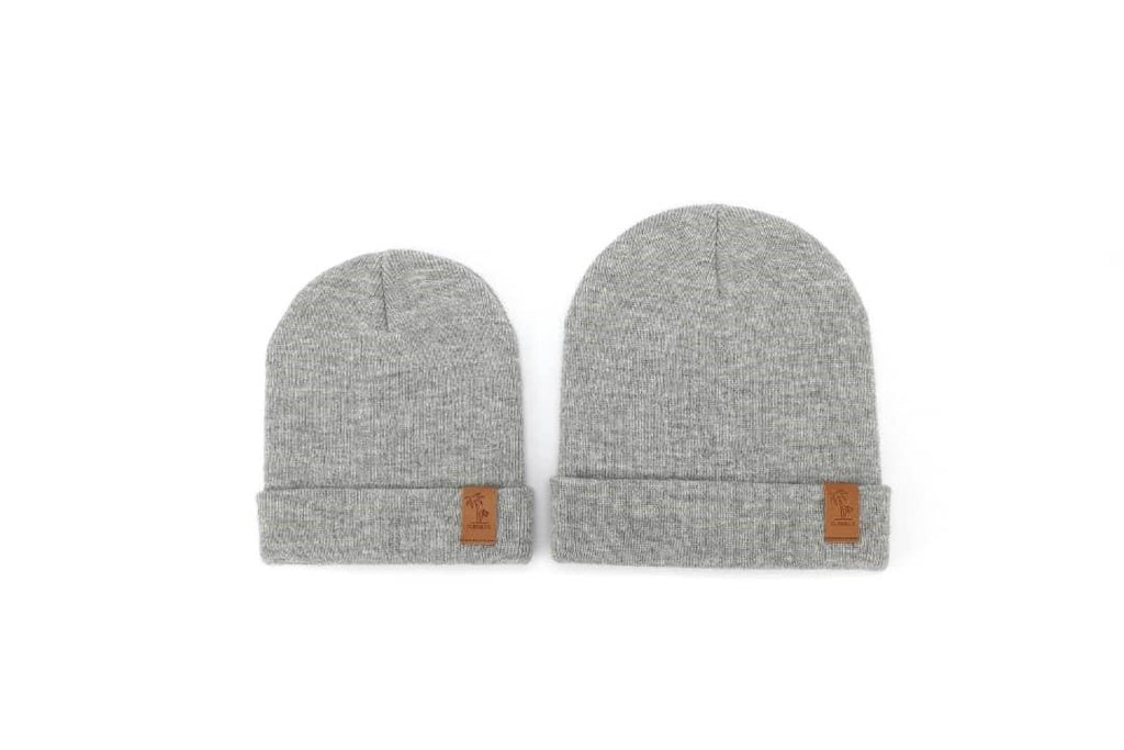 Matching grey winter beanie for kids, women and men. Cubs and Co. Australia