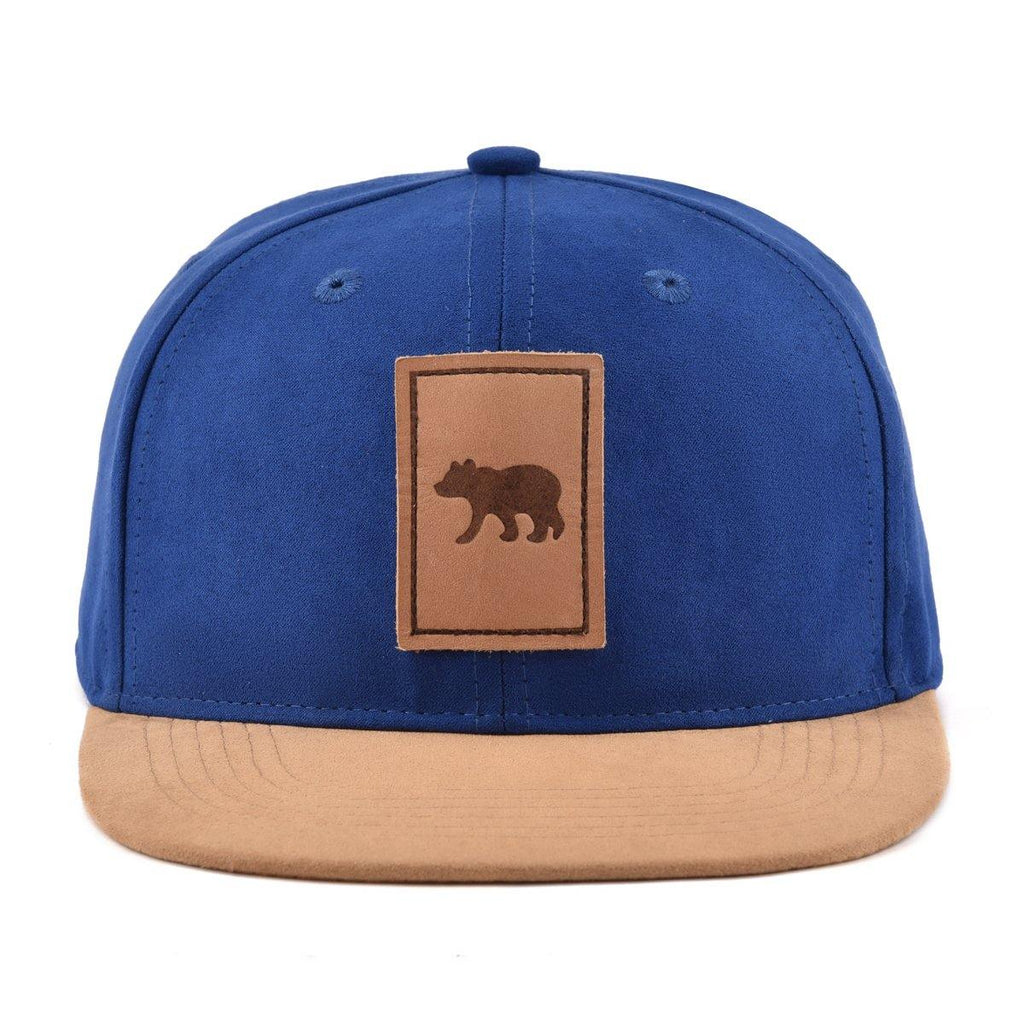 Suede navy snapback hat for babies, toddlers, kids and men. Cubs & Co. Australia