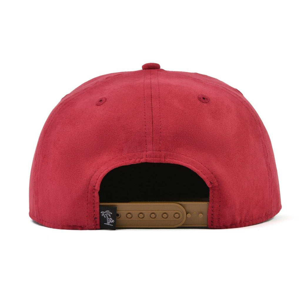 Suede red snapback hat for babies, toddlers, kids and men. Cubs & Co. Australia