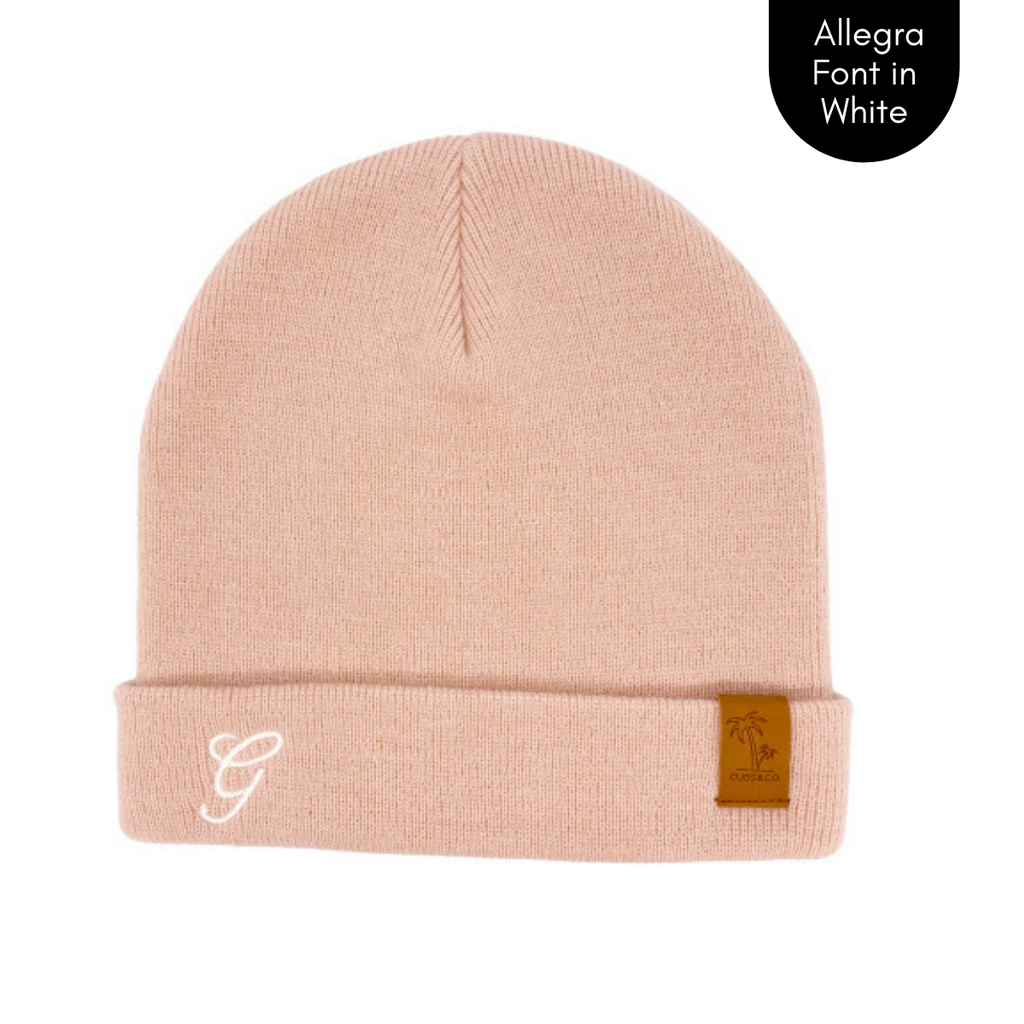Pink personalised beanie, cubs and co Sydney