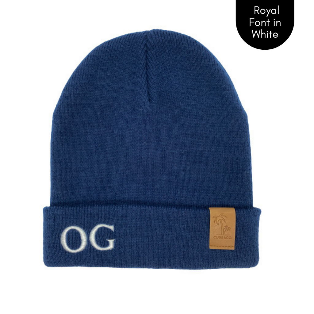 Navy personalised beanie, cubs and co Sydney