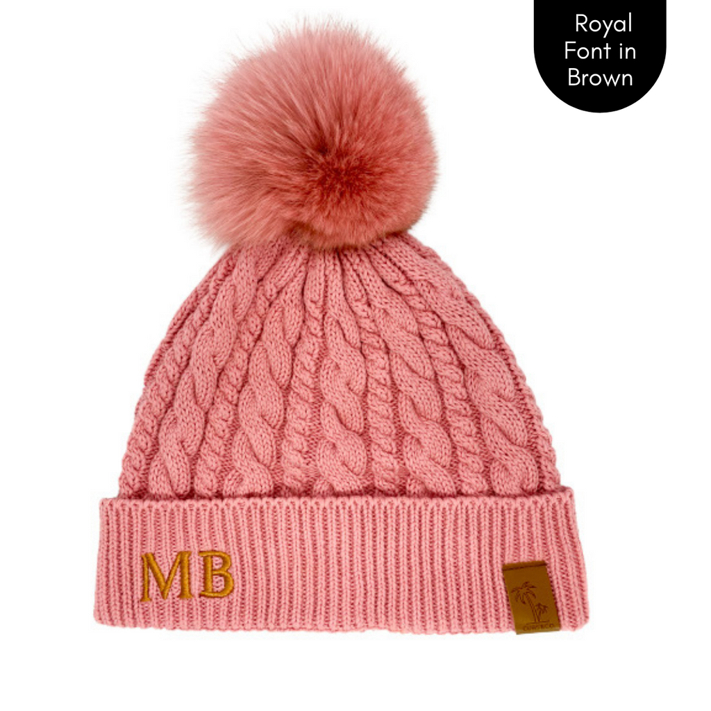 Pink pom pom personalised beanie, cubs and co Sydney
