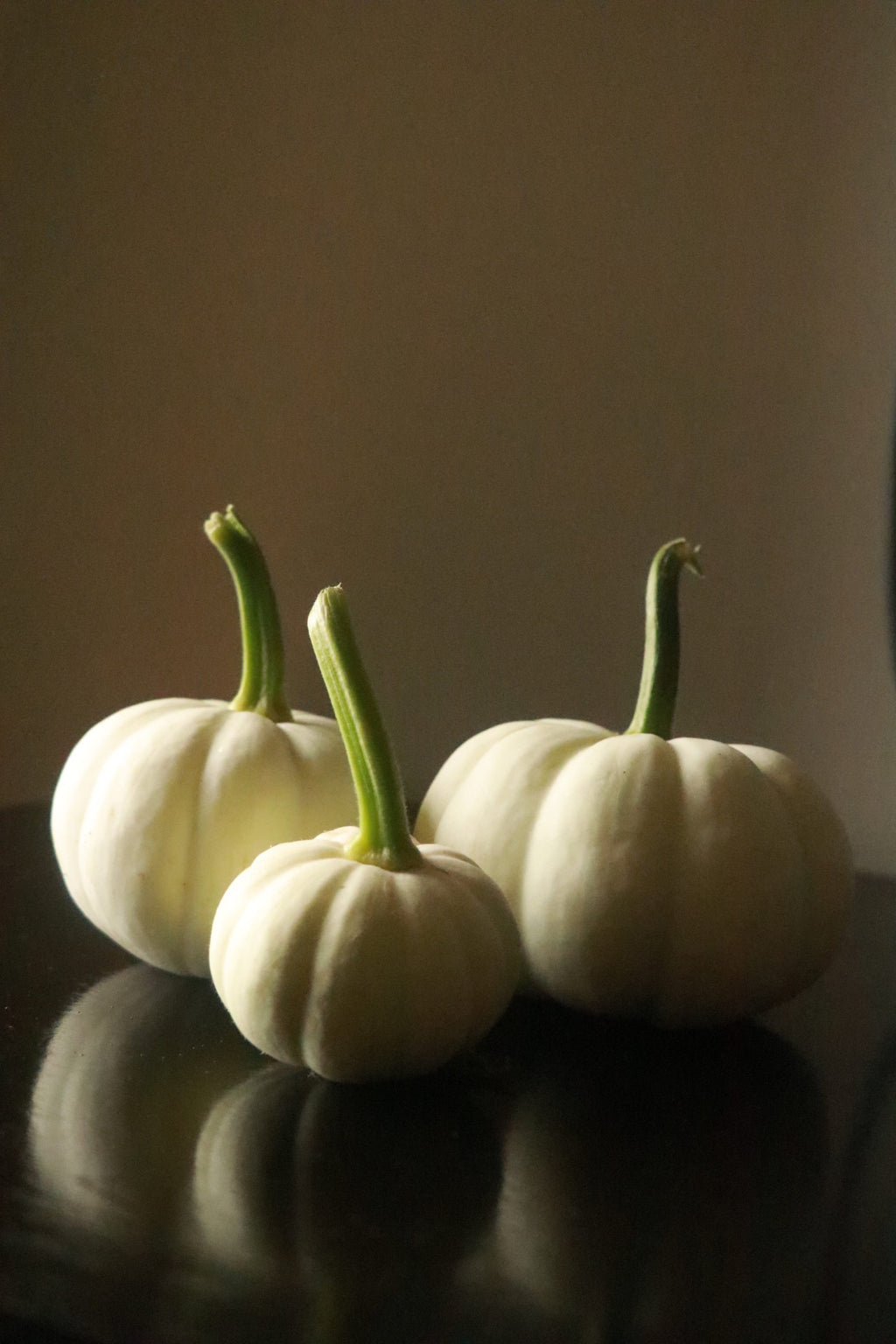 White mini pumpkin