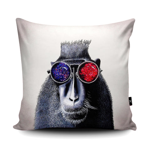 Hipster Monkey Cushion by Adam Barsby