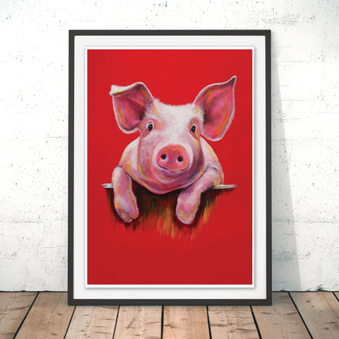 Little Piggy Original Print by Adam Barsby
