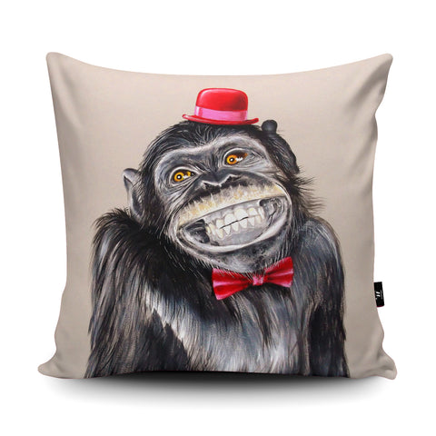 Monkey Business Cushion by Adam Barsby