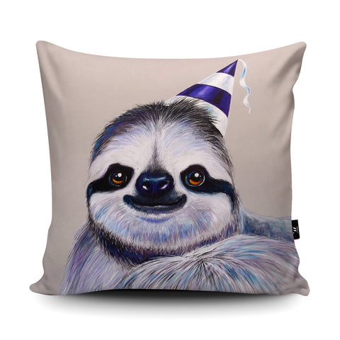 Party Sloth Cushion by Adam Barsby