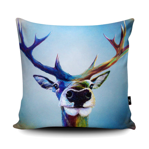 Stag Selfie Cushion by Adam Barsby