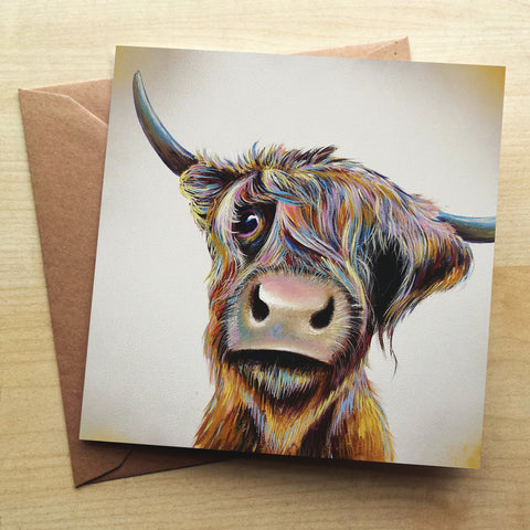 A Bad Hair Day Greetings Card by Adam Barsby