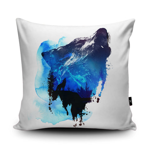 Alone as a Wolf Cushion by Robert Farkas