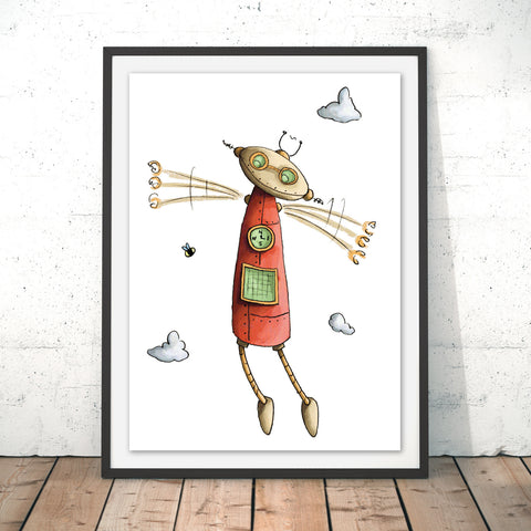 Fly Fly Fly Original Print by Amberin Huq