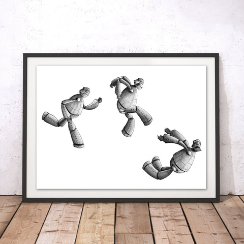 Iron Giant Jump Original Print by Amberin Huq