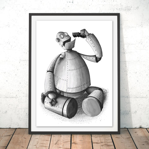 Iron Giant Original Print by Amberin Huq