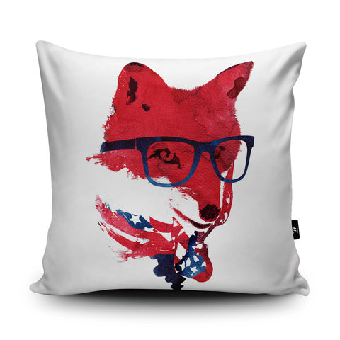 American Fox Cushion by Robert Farkas