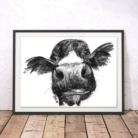 Cow Original Print by Bex Williams
