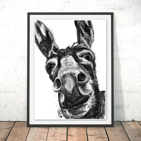Donkey Original Print by Bex Williams