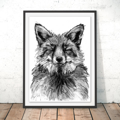 Fox Original Print by Bex Williams