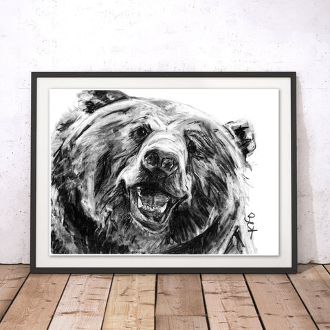 Grizzly Original Print by Bex Williams