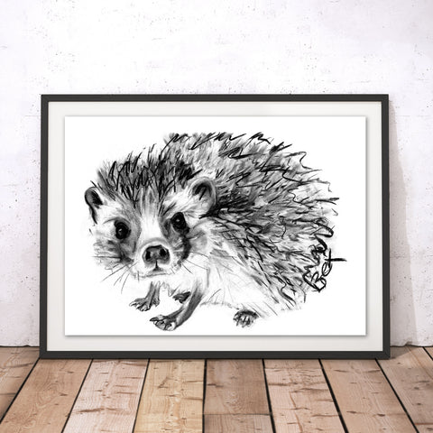 Hedgehog Original Print by Bex Williams