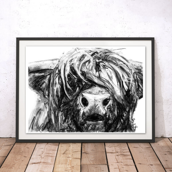 Unique Art Gifts Highland Cow Wall Art Print Wraptious