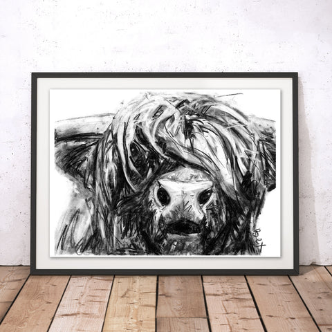 Highland Cow Original Print by Bex Williams