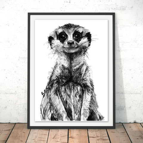 Meerkat Original Print by Bex Williams