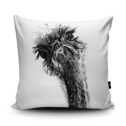 Ostrich Cushion by Bex Williams