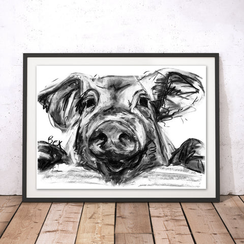Pig Original Print by Bex Williams