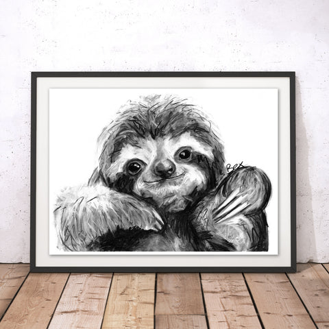 Sloth Original Print by Bex Williams