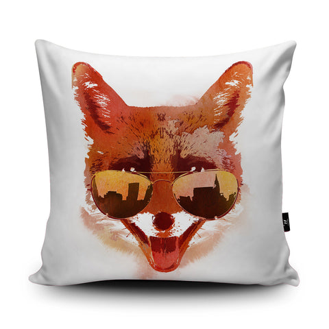 Big Town Fox Cushion by Robert Farkas