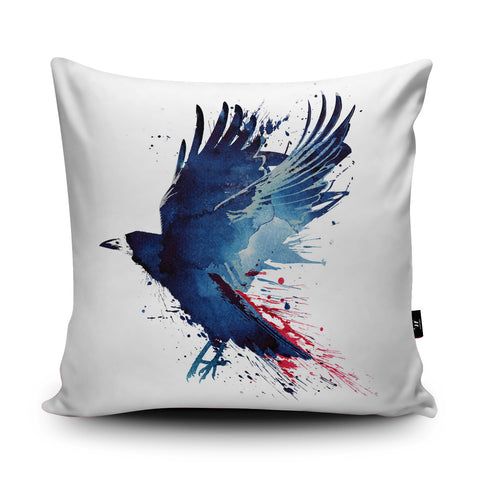 Bloody Crow Cushion by Robert Farkas