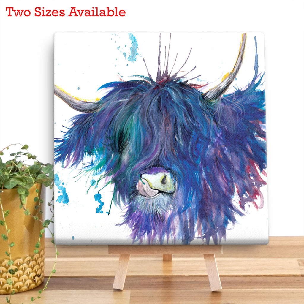 Splatter Highland Cow