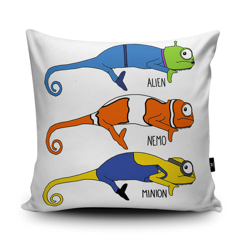 Chameleon Animations Cushion by Jasmine Hutchison
