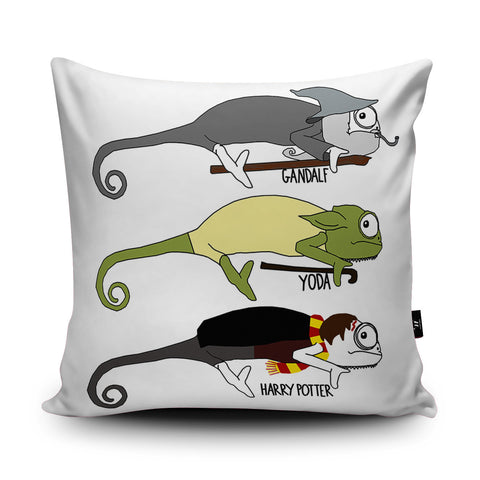 Chameleon Movies Cushion by Jasmine Hutchison