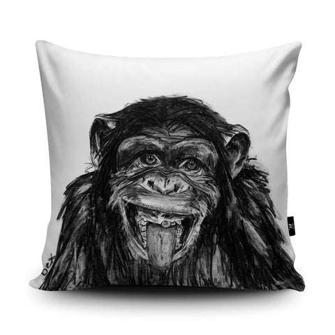 Chimp Cushion by Bex Williams